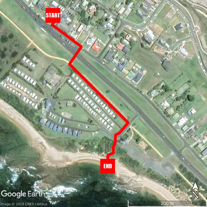 Beach walking map - Kilcunda Ocean View Motel