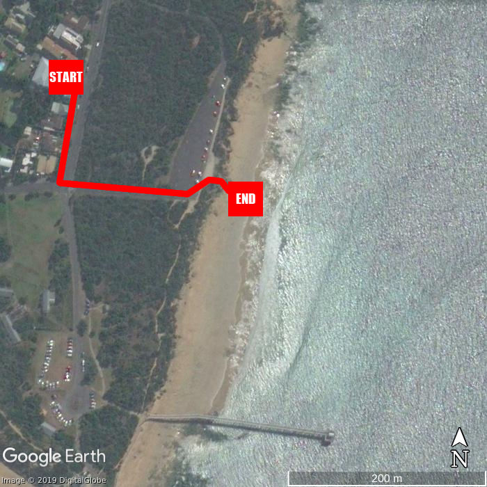 Beach walking map - Point Lonsdale Guest House
