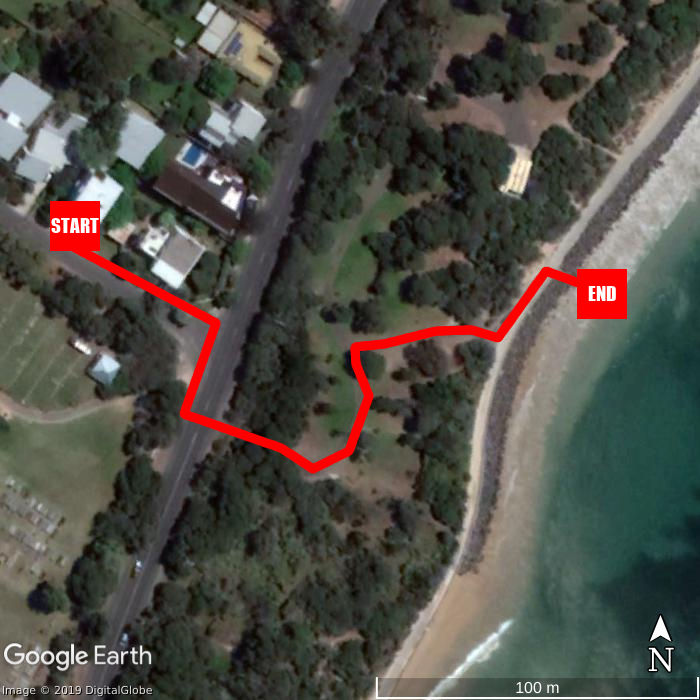 Beach walking map - Point Lonsdale Holiday Apartments