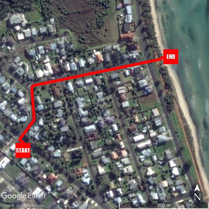 Beach walking map - Bay Bell Cottage