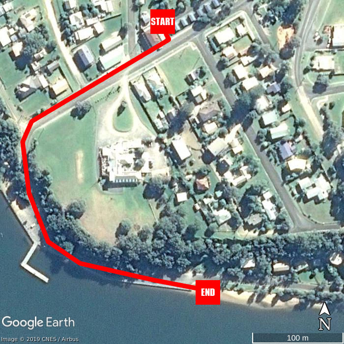 Beach walking map - Marlo Caravan Park & Motel
