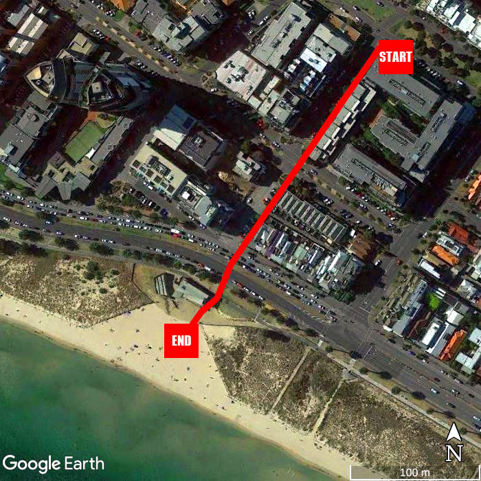 Beach walking map - Urban Sea Drift