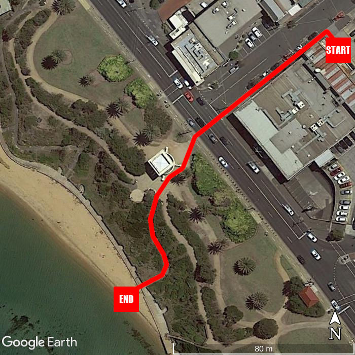 Beach walking map - Sandringham Hotel