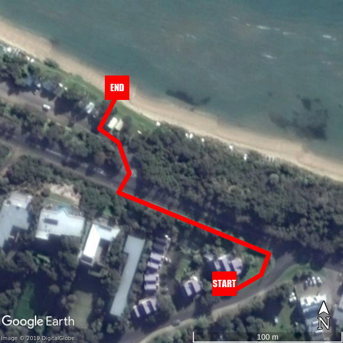 Beach walking map - Boathouse Resort