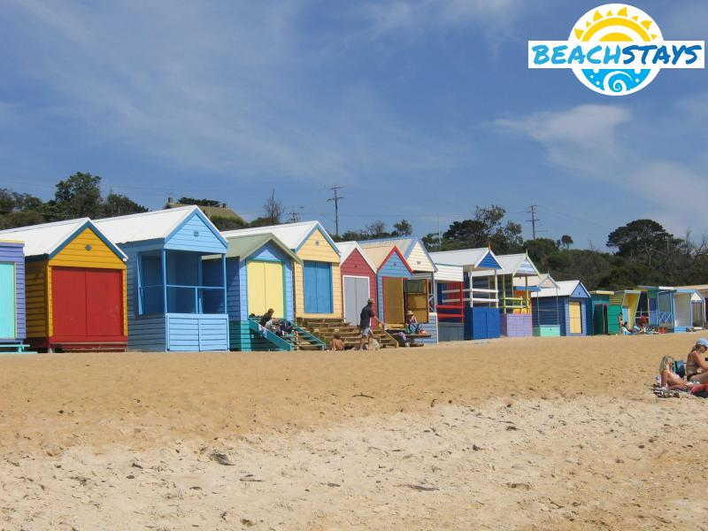 Bathing boxes, Mount Martha Beach South