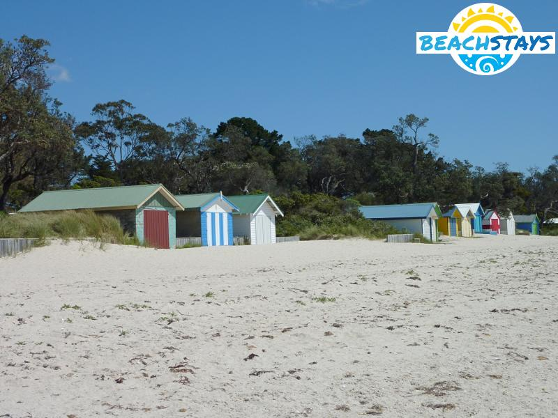 Bathing boxes on the beach