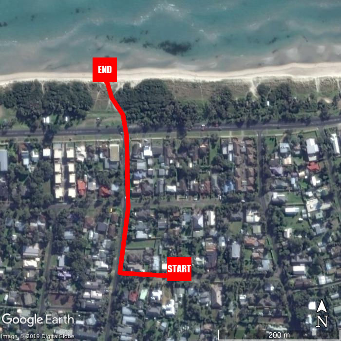 Beach walking map - Blue Moon Cottages - The Sandpiper