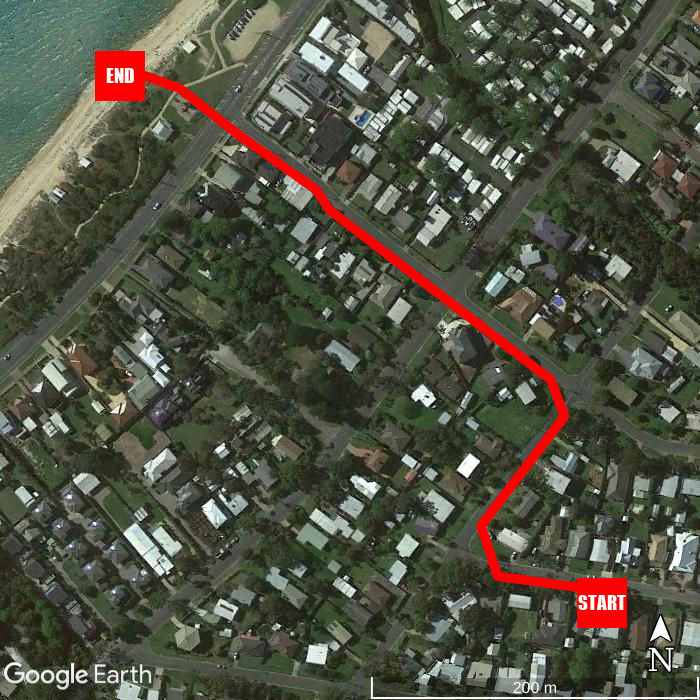 Beach walking map - Sea Eagle Beach House