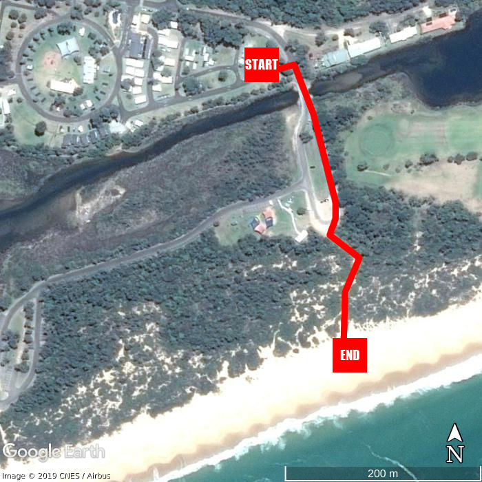 Beach walking map - NRMA Eastern Beach Holiday Park