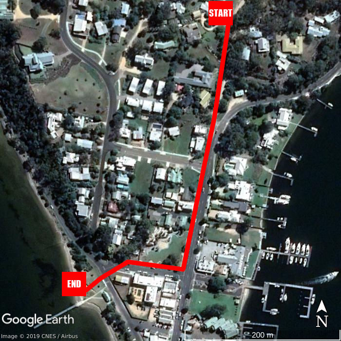 Beach walking map - Clovelly Cottage