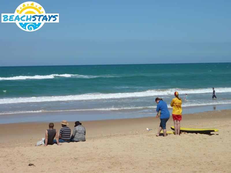 Beach in front of Seaspray surf lifesaving club