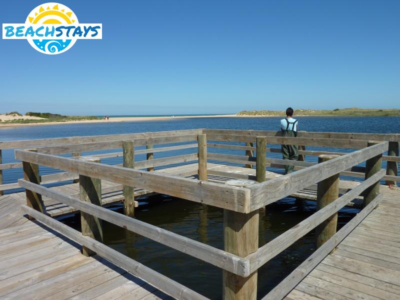 Fishing platform near mouth of Merriman Creek