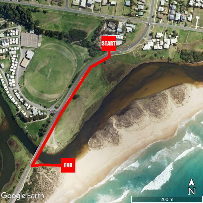 Beach walking map - A Great Ocean View Motel