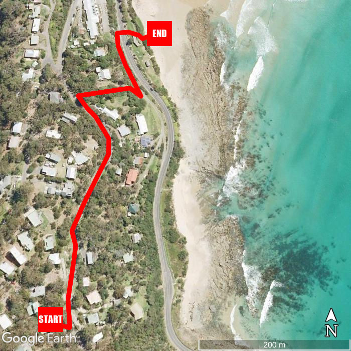 Beach walking map - Morley