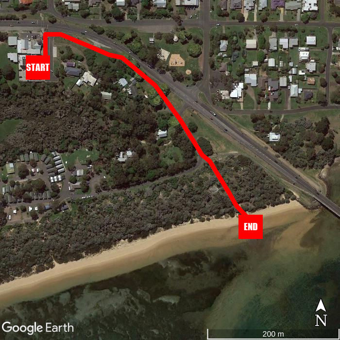 Beach walking map - The Island Accommodation