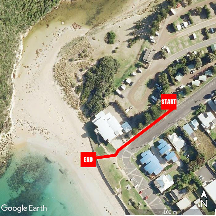 Beach walking map - NRMA Port Campbell Holiday Park