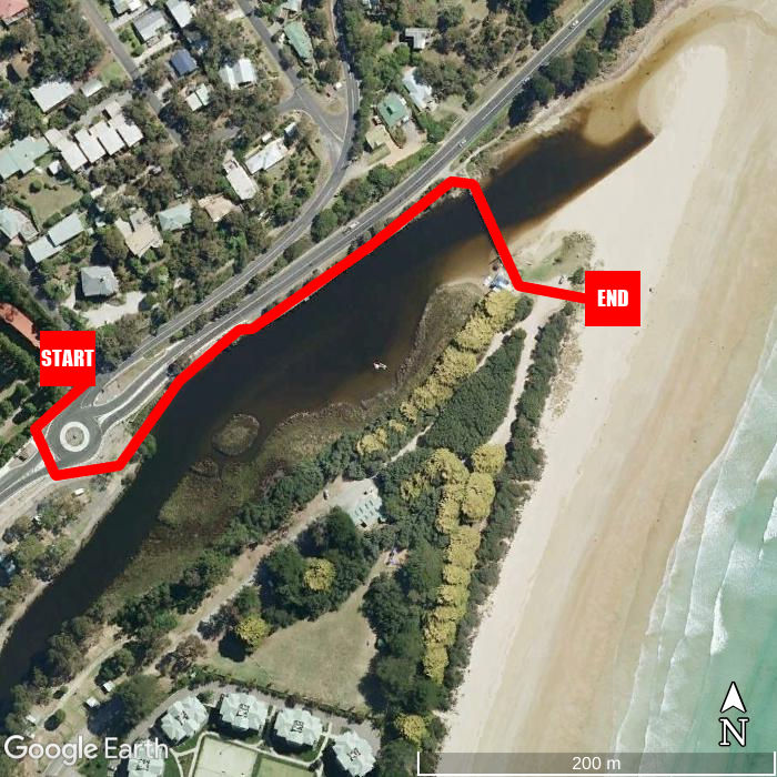 Beach walking map - Lorne Coachman Inn