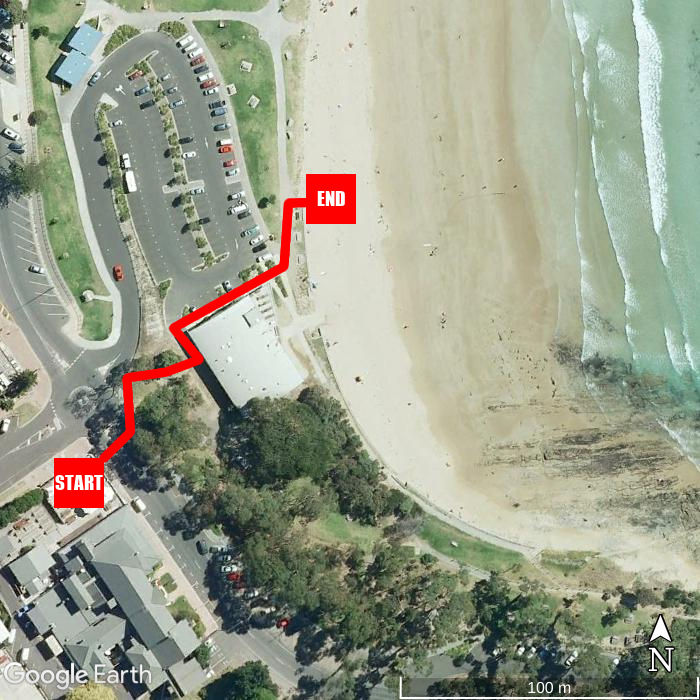 Beach walking map - Lorne Hotel
