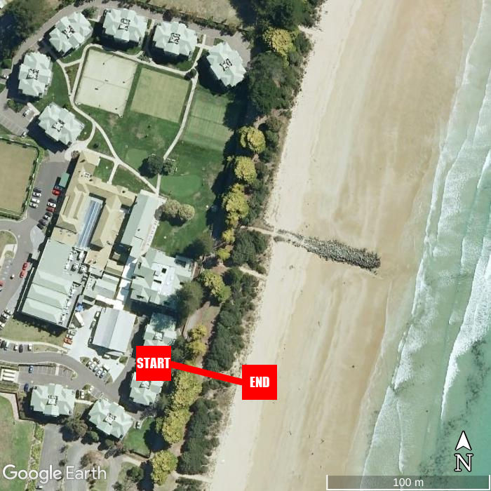 Beach walking map - Mantra Lorne