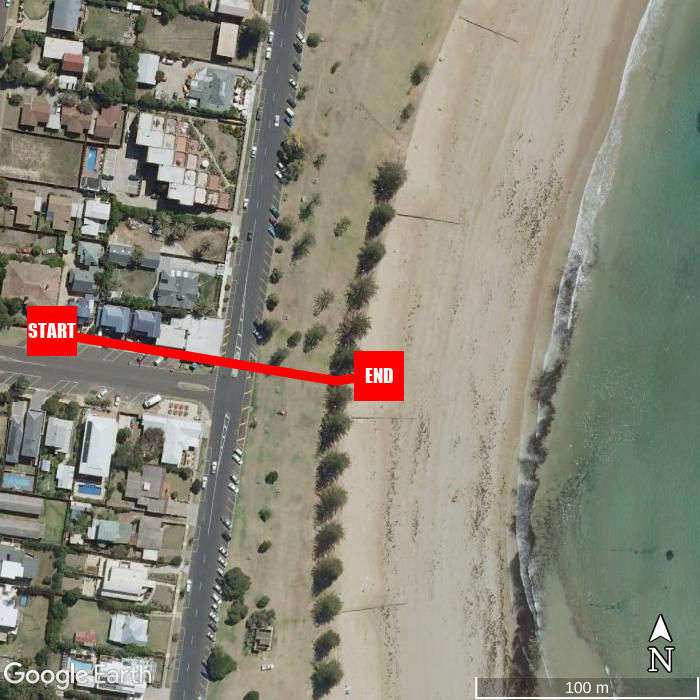 Beach walking map - Front Beach Torquay Beach House
