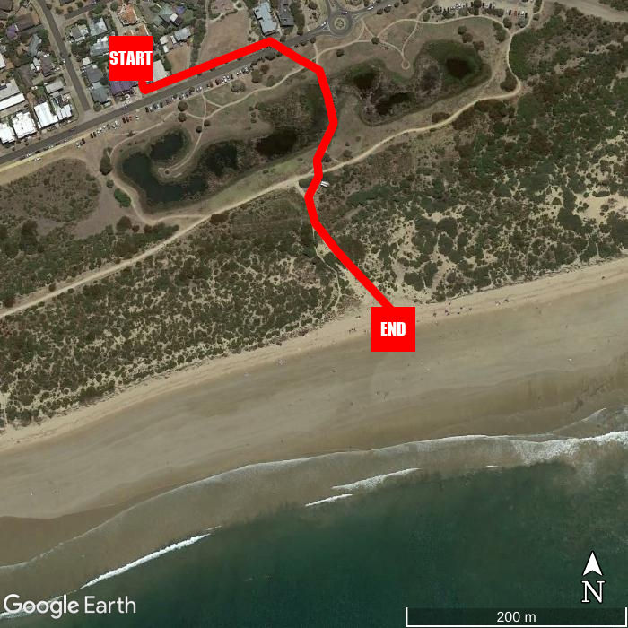 Beach walking map - Whites Retreat