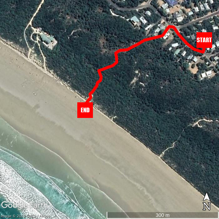 Beach walking map - Sandy Point Beach Escape